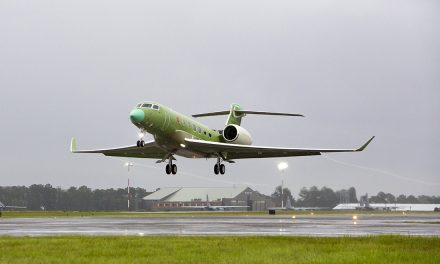 Fourth gulfstream G600 test aircraft makes first flight.