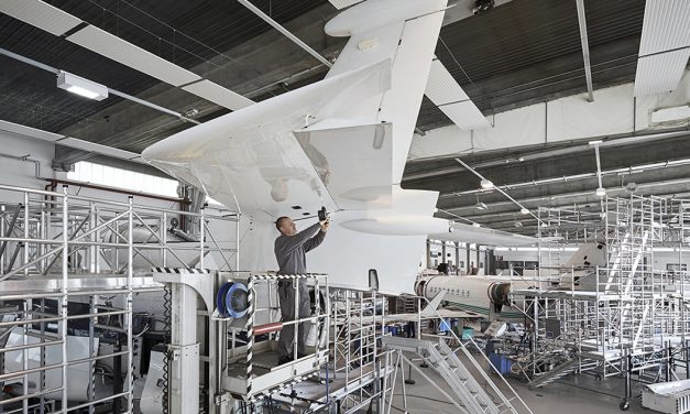 RUAG completes first C-check on Dassault Falcon 7X.