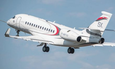 FALCON 5X TAKES FLIGHT
