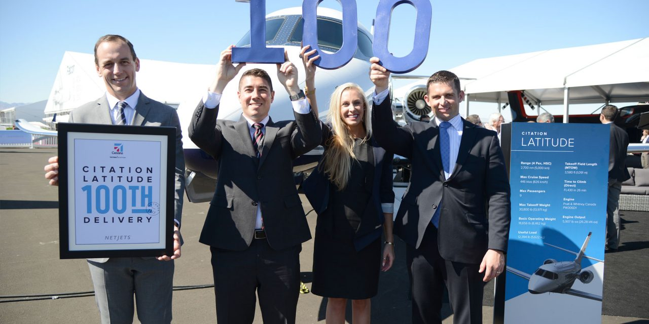 Cessna Citation Latitude popularity soars, reaches 100th delivery milestone