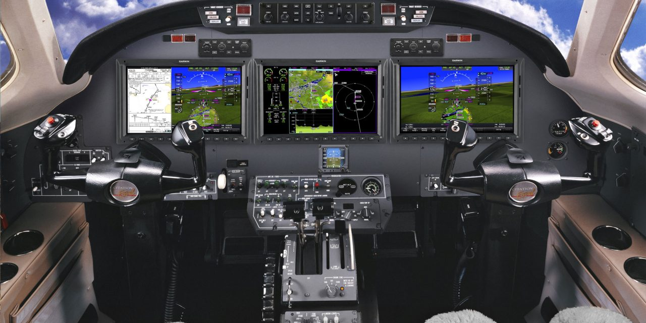 Garmin approaches first flight of the G5000 integrated flight deck in the Citation Excel/XLS
