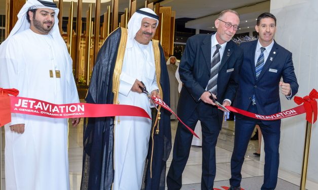 Jet Aviation celebrates opening of new FBO at the shared terminal in Dubai South.