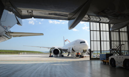 AMAC has welcomed an Airbus A319 aircraft at its headquarters in Basel, Switzerland for a heavy base maintenance check and a KA band installation