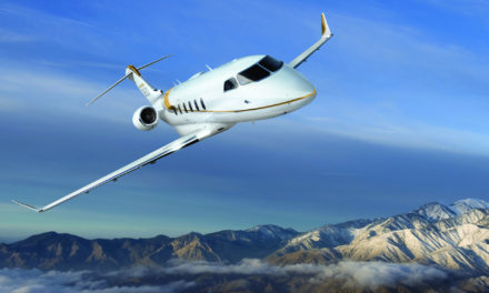 The Challenger 350 certified for steep approaches