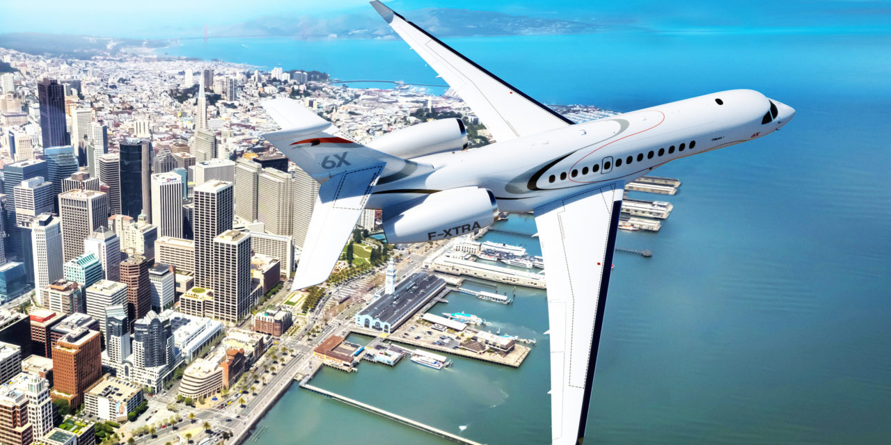 Dassault unveils the Falcon 6X