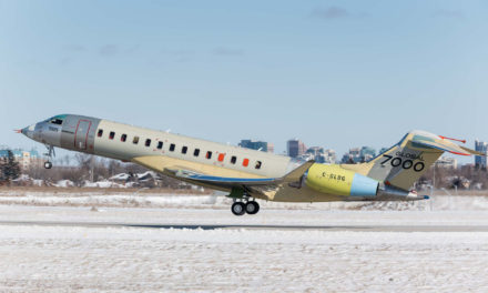 "The ""Masterpiece"", the last prototype of the Global 7000 makes a first flight"