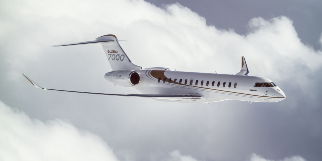 Longer flight time for the Global 7000