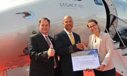 Embraer Legacy 450 sets transatlantic speed record between the United States and Europe