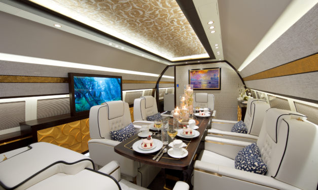COMLUX COMPLETES ITS 11th VIP CABIN INTERIOR ON A BBJ