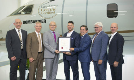 Global 7500 aircraft, awarded transport Canada type certification