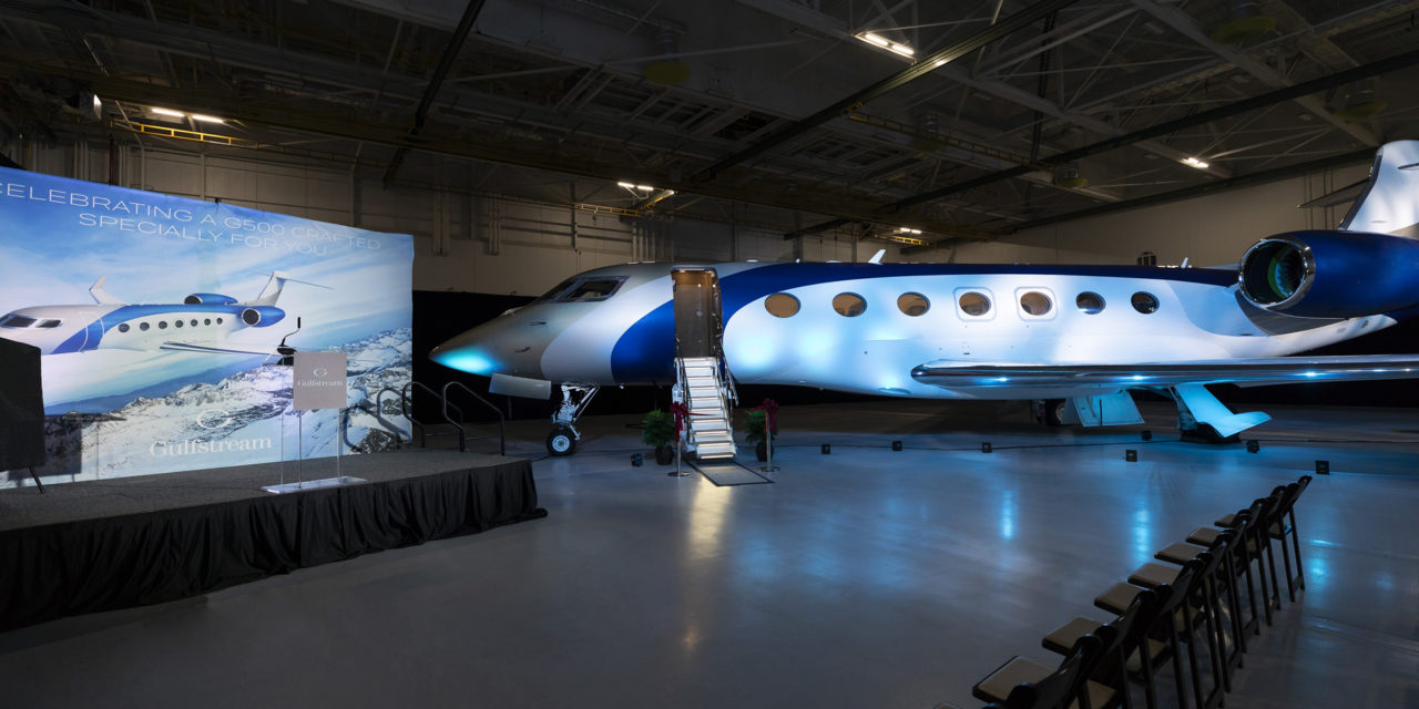 Gulfstream delivers first G500 on time