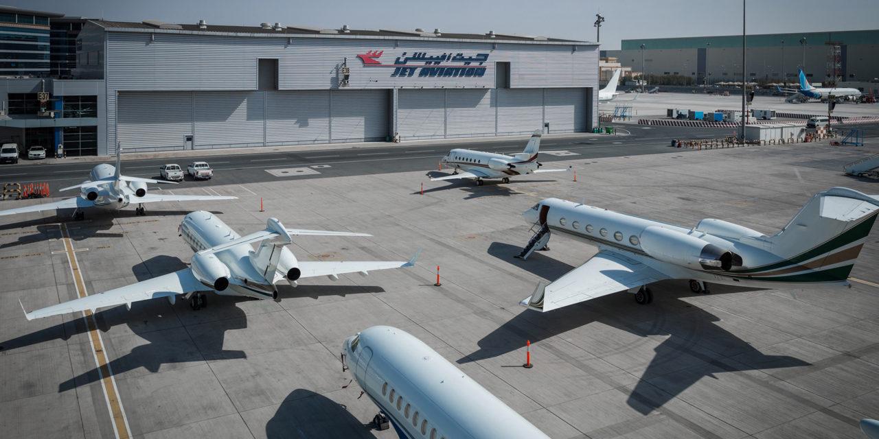 Jet Aviation performs two C-Checks in tandem on Gulsftream GV in Dubai