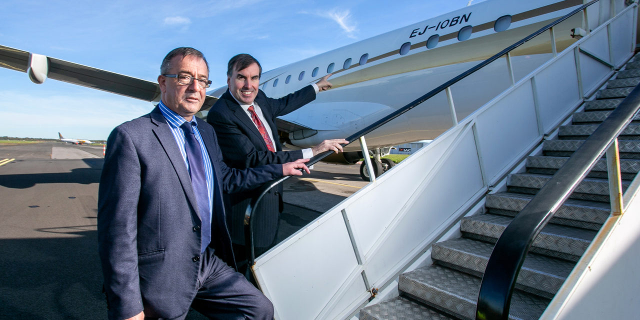 Gainjet Ireland takes delivery of the first EJ registered aircraft in the world registered EJ