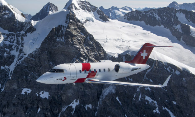 Swiss air-rescue Rega completes new air ambulance fleet with delivery of third Bombardier Challenger 650 business jet