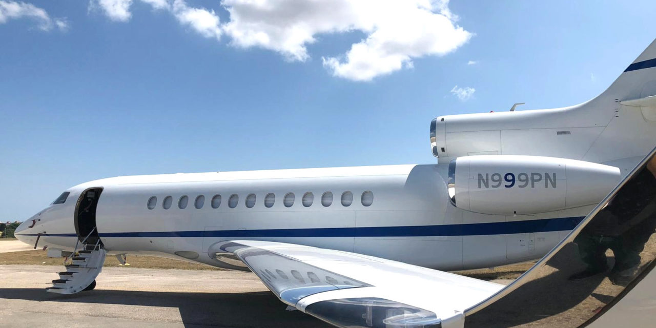 "Planet Nine Private Air (""P9PA"") takes fifth and latest Falcon 7X"