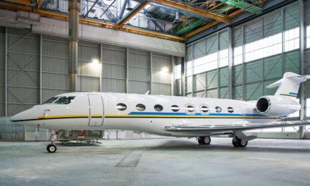 RUAG repaints Gulfstream G650 aircraft