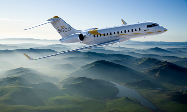 Bombardier registered the first order for a Global 5500