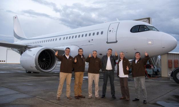 ACJ319neo sets record during test-flight