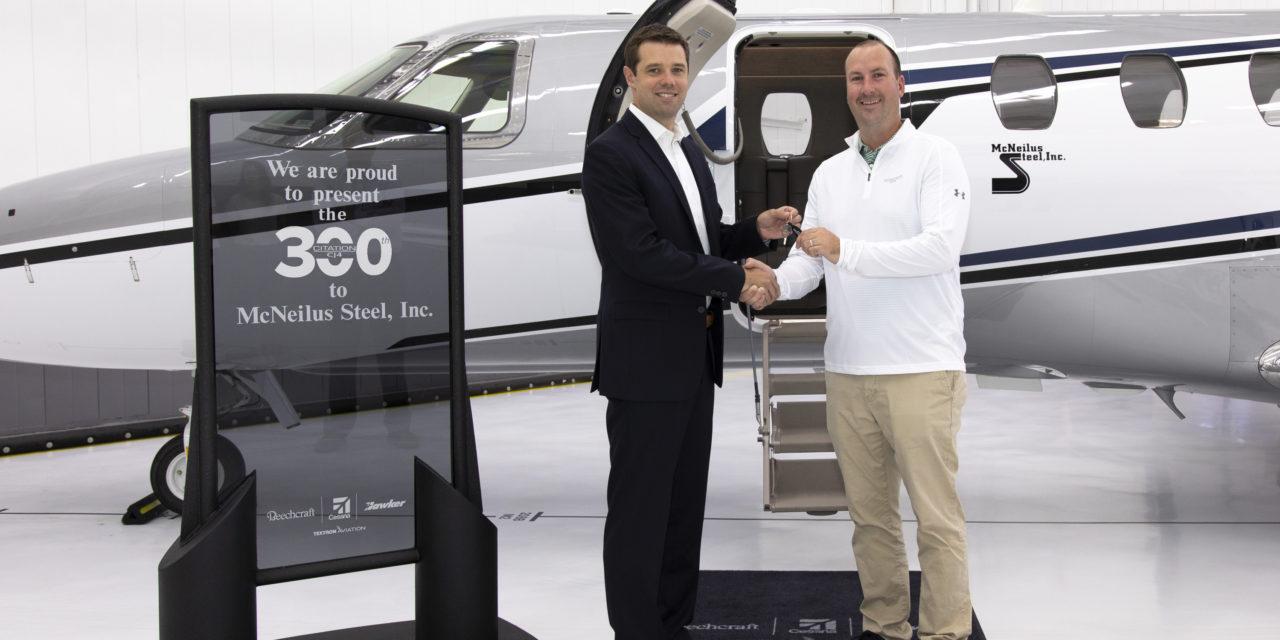 Textron Aviation delivered its 300th Cessna Citation CJ4
