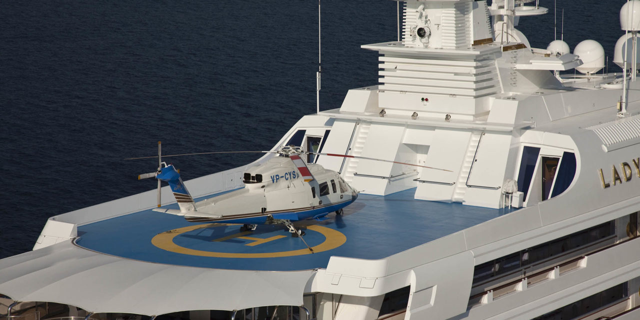 Yachts and helicopters: a matter of size …