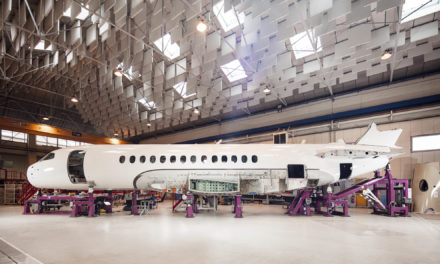 Dassault's Falcon 6X advances to initial production