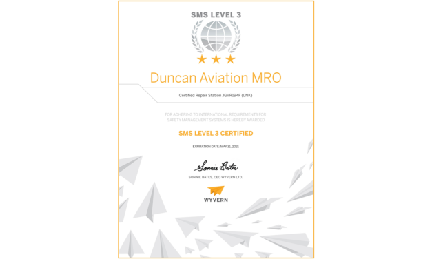 Duncan Aviation Achieves SMS Level 3 Certification