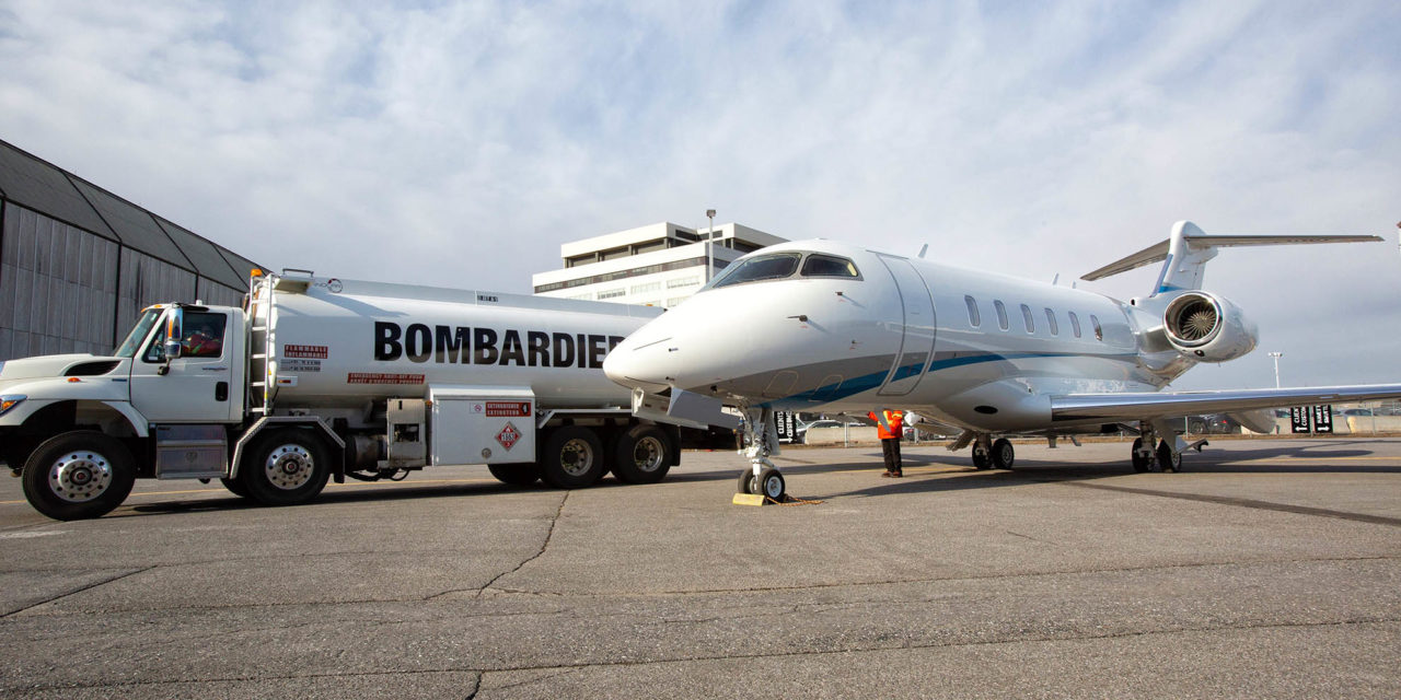 Bombardier delivers first customer aircraft fueled with SAF to Latitude 33 Aviation
