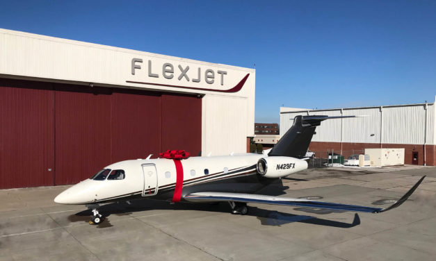 First Embraer Praetor 500 business jet delivered to Flexjet: the Praetor fleet launch customer