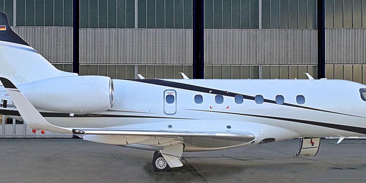 RUAG International repaints Embraer Legacy 500 aircraft
