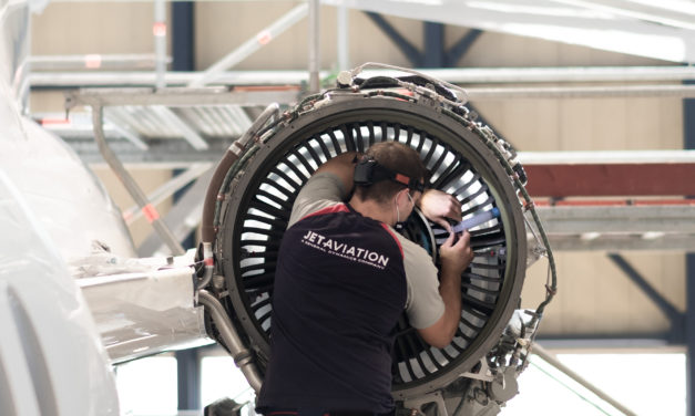 Jet Aviation delivers 1st fan case modification on Falcon 7X PW307A Engine
