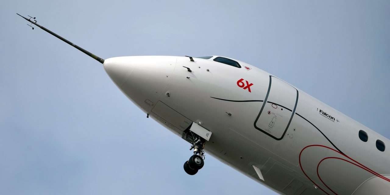 Second Falcon 6X Makes Successful First FlighT