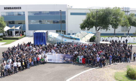 Bombardier Celebrates 15-year Anniversary of its Querétaro, Mexico, Site as Facility Delivers the 100th Global 7500 Aircraft Rear Fuselage
