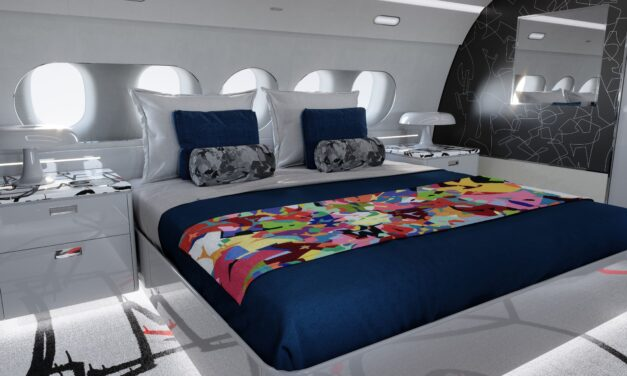 ACJ and contemporary artist, Cyril Kongo, partner to offer a special ACJ TwoTwenty cabin edition