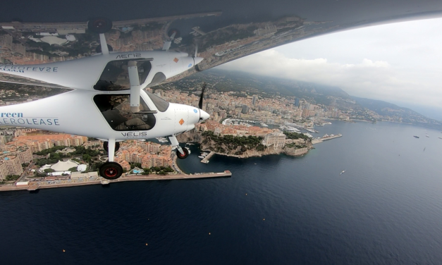 A world first : H.S.H Prince Albert II of Monaco flies electric